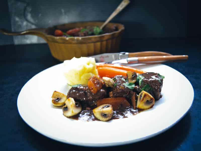 Boeuf Bourguignon Rezept Rindfleisch in Rotwein