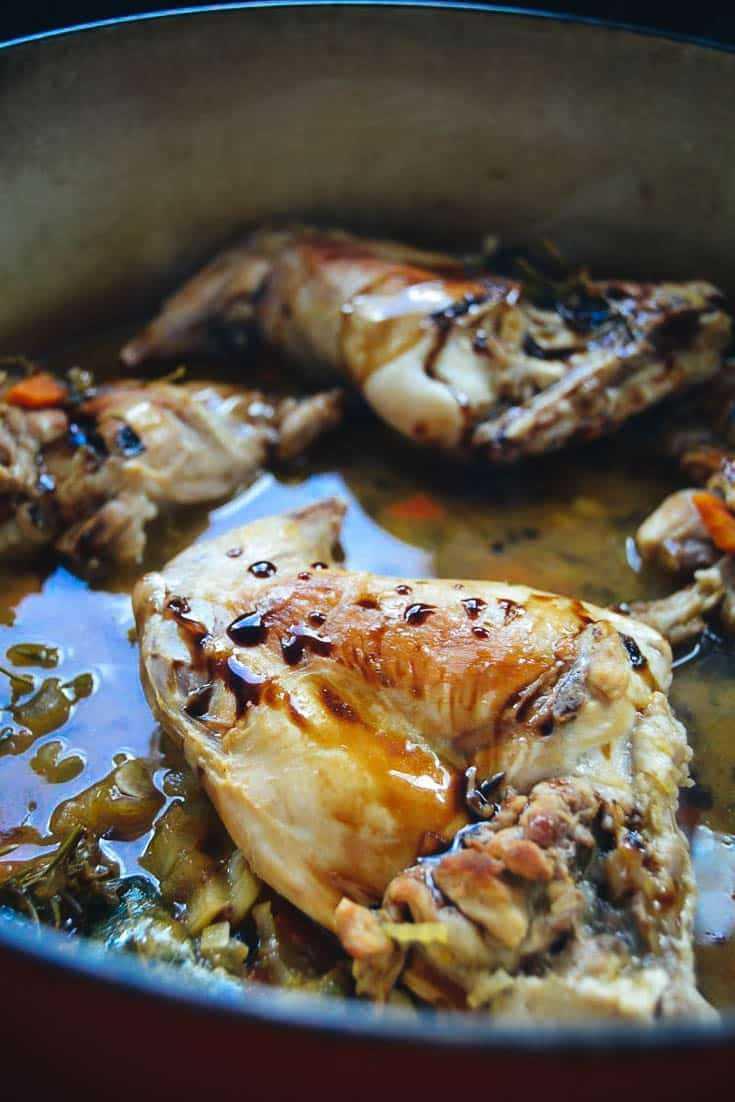 Rezept Kaninchen mit Balsamico Sauce