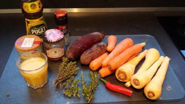 Buntes Wurzelgemüse aus Möhren , Pastinaken und Rote Bete kochen aus liebe