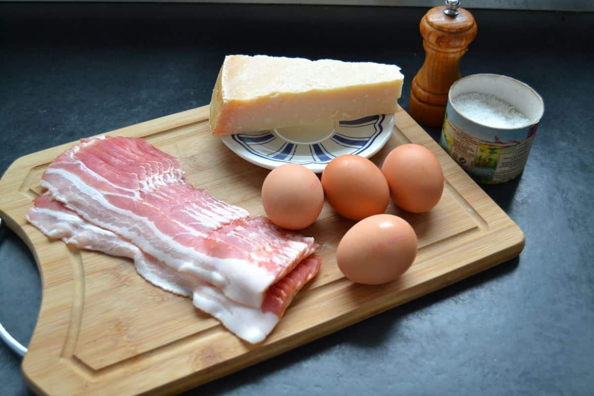 Eier , Bacon , Parmesan