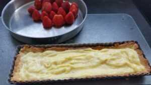 Erdbeertarte mit Vanillecreme