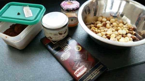Nüsse, Schokolade, Kakao, Kokosfett