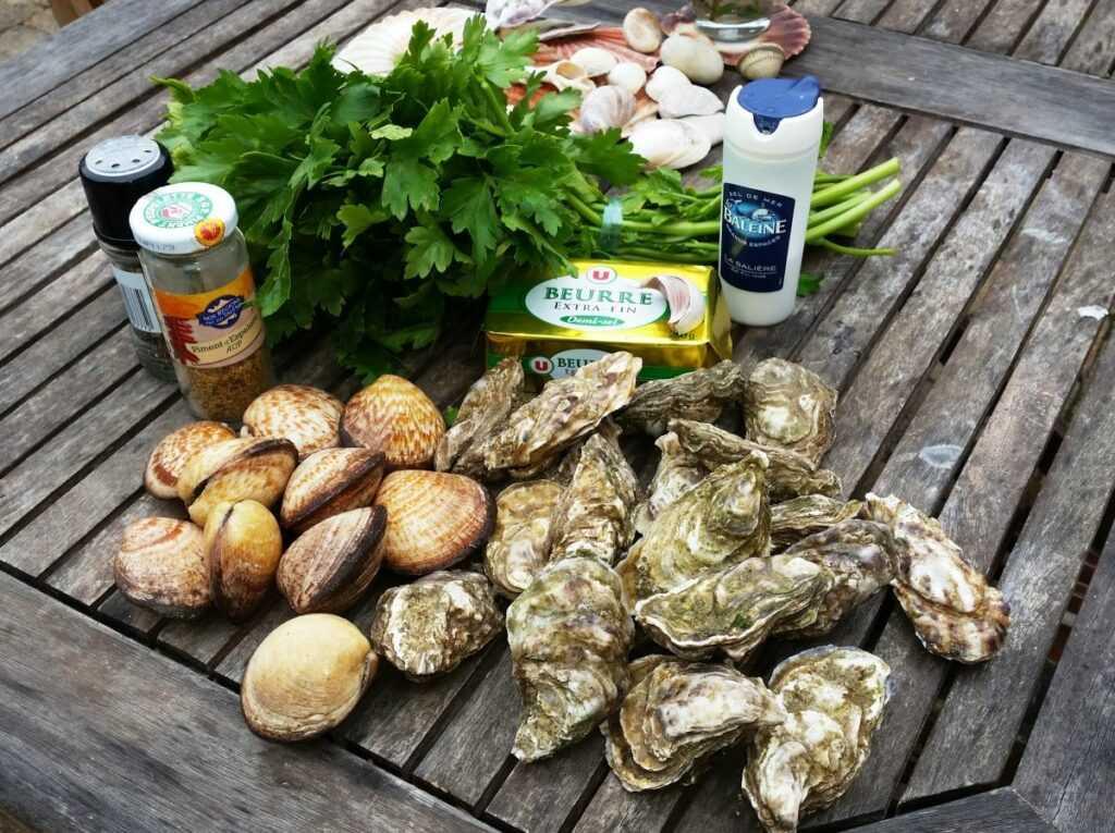 Austern und Amandes mit Petersilie Amandes de mer Meermandeln Rezept