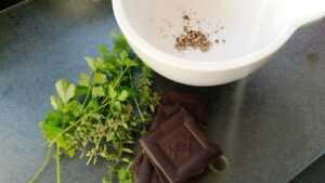 Koriander und Schokolade