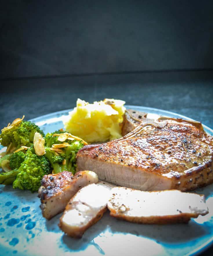 Kotelett Braten Dry Aged Pork Im Ofen Gegart Kochen Aus Liebe