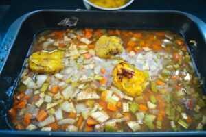 Entenfond mit Gemüse und Orangensaft