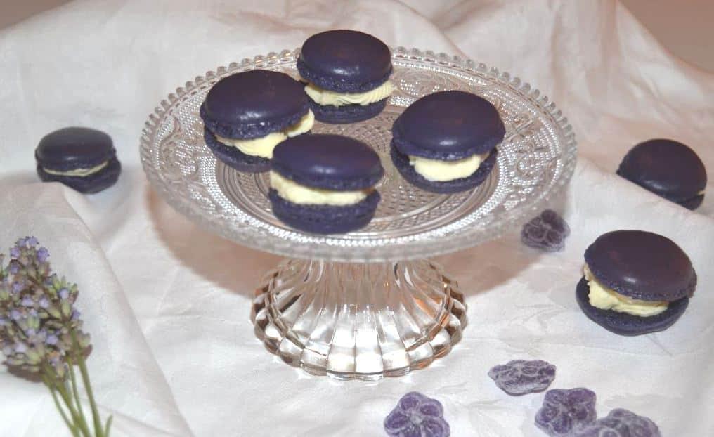 lila macarons mit weißer-schokoladen-ganache-kochen-aus-liebe