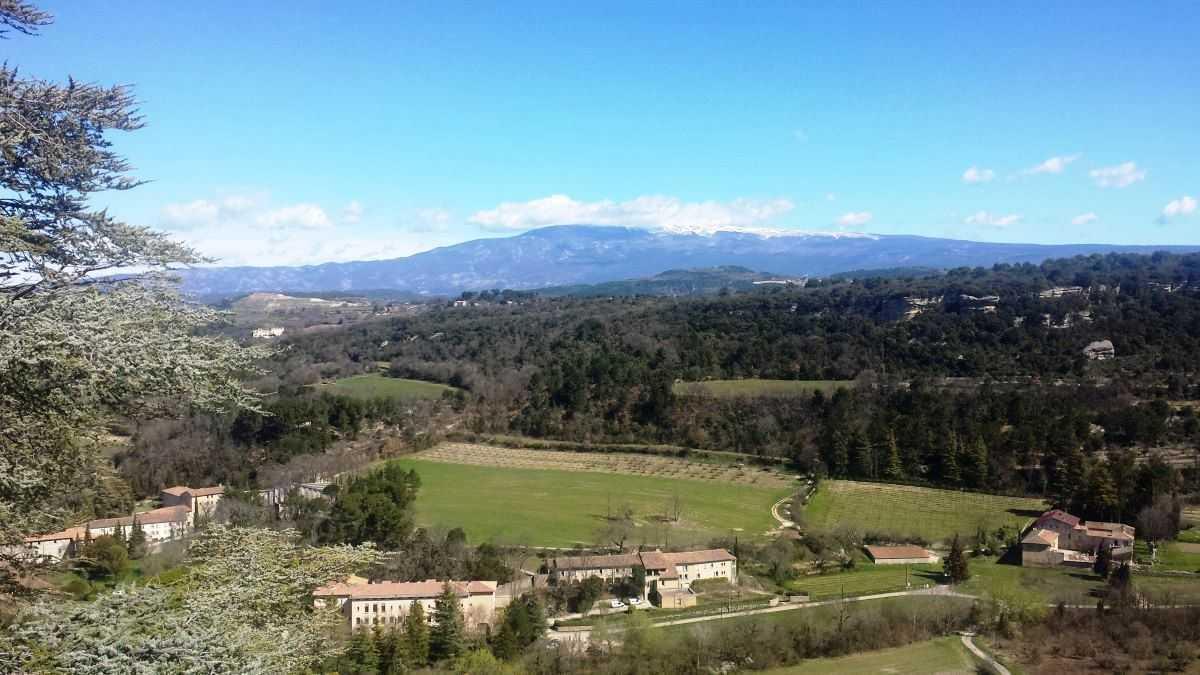 Provence Bédoin Blick auf den Mont Ventoux