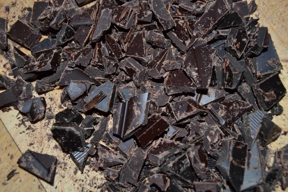 Schokolade gehackt