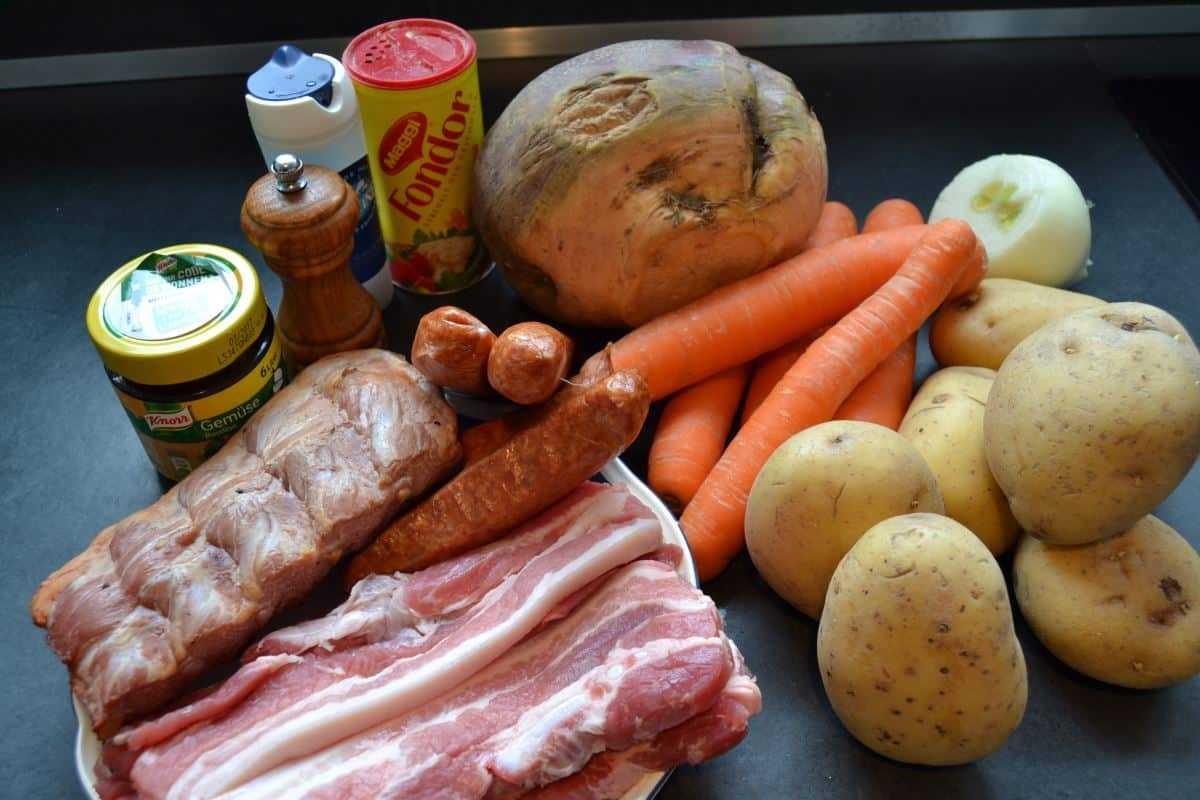 Zutaten Steckrübeneintopf nach westfälischer art kochen aus liebe