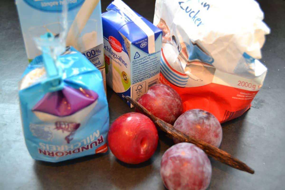 Zutaten milchreis pflaumen milchen zucker vanillestange kochen-aus-liebe