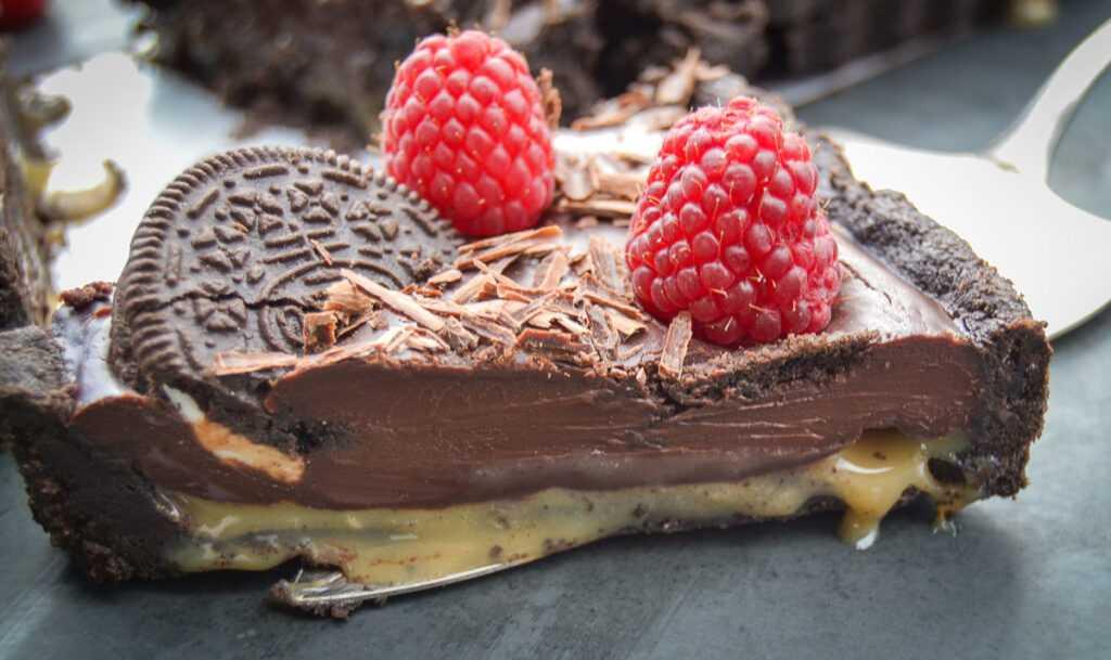 Schoko Oreo Kuchen Rezept mit Dulce de Leche ohne backen