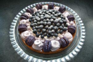 macaron-torte-mit-blaubeeren