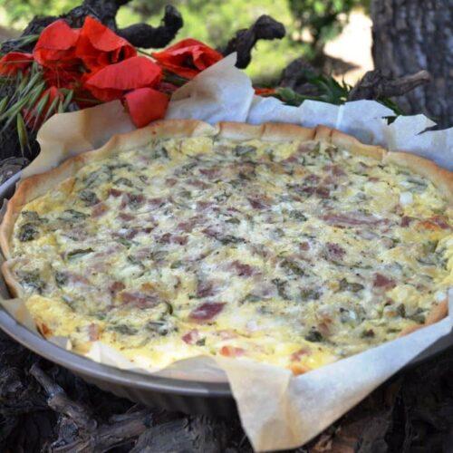 quiche-mit-bacon-und-rucola