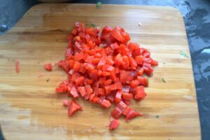 Paprika gewürfelt