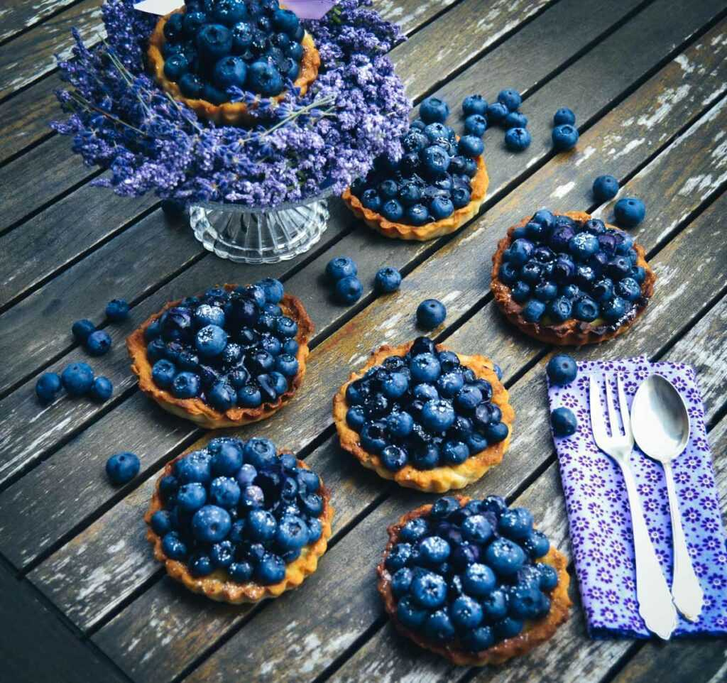 Blaubeer Tarte Rezept mit Vanillecreme