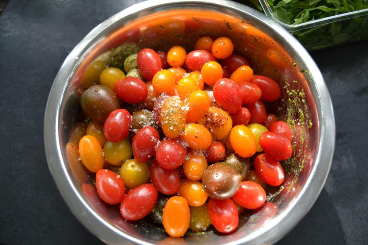 Tomaten , Salz , Piment de Espelette
