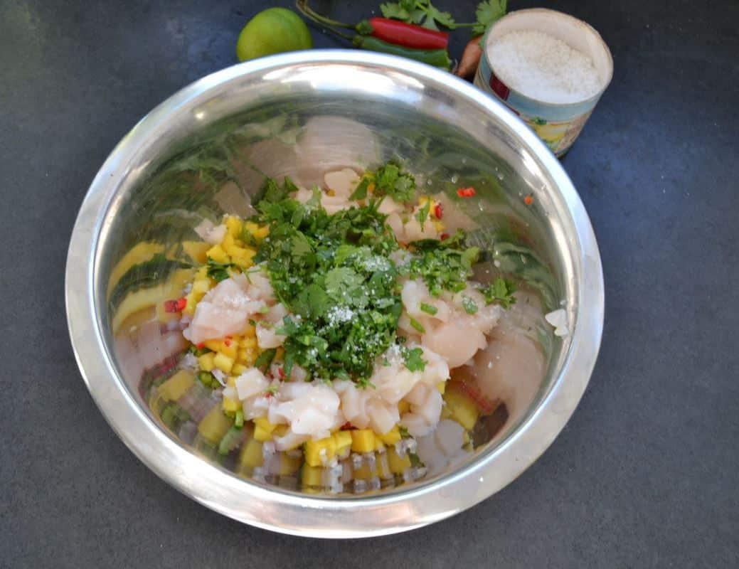 Jakobsmuschel-Ceviche-mit Mango und Koriander