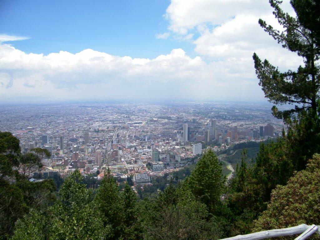 Bogota Colombia - Blick vom Monserrate auf Bogota