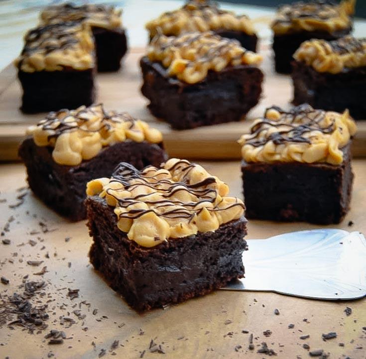 Schoko Brownie Rezept saftige Brownies mit dulce de leche Creme