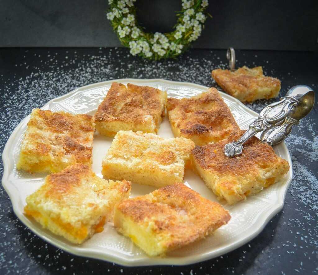 Kokos Buttermilchkuchen mit Mandarinen