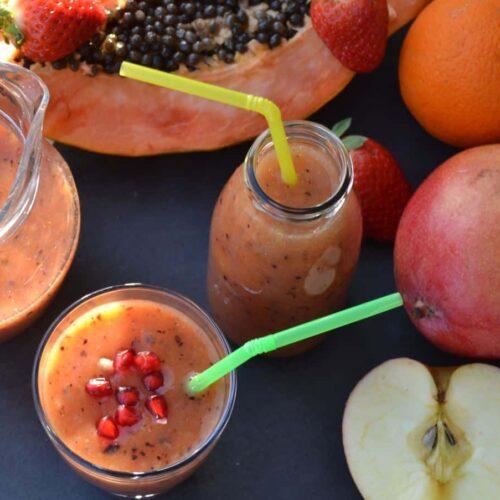 Papaya Frucht Smoothie Rezept