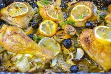Zitronenhähnchen Rezept aus dem Backofen