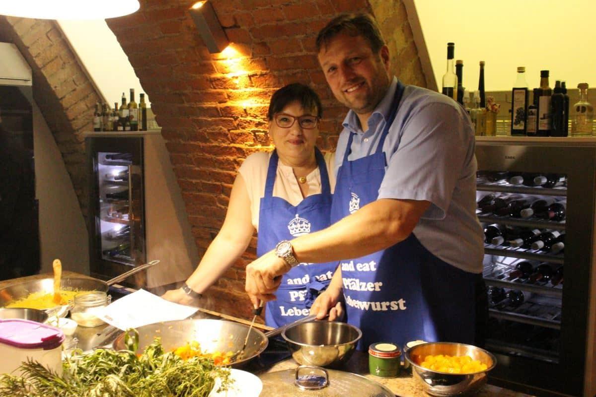 Peter und Petra Cornelius beim Blogger-Event im Alt Speyer Gewölbekeller