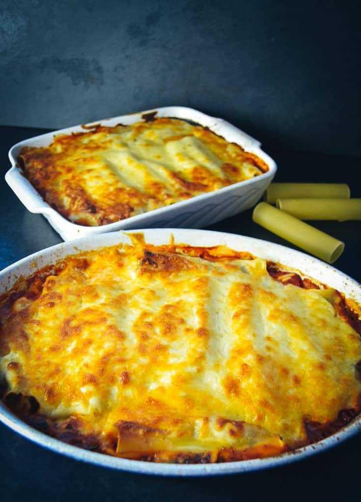 Cannelloni Rezept mit Spinat und Ricotta