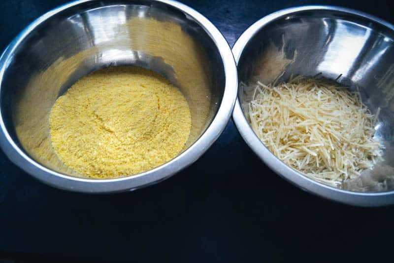 Polenta und Parmesan