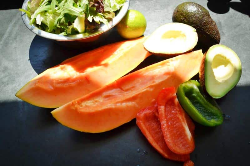 Papaya, , Avocado, Salat,