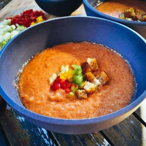 Gazpacho Rezept kalte spanische Gazpacho Suppe