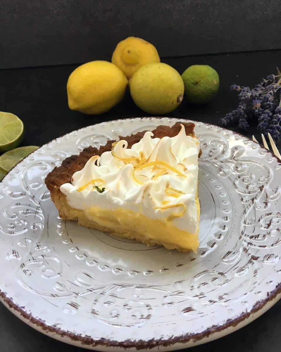 Tarte au Citron Zitronentarte mit Baiser