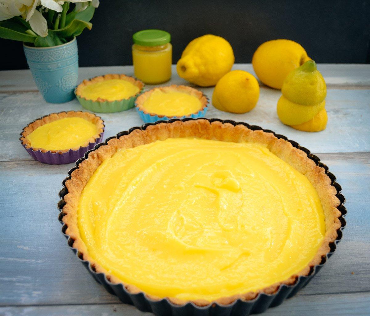 Tarte mit Zitronencreme