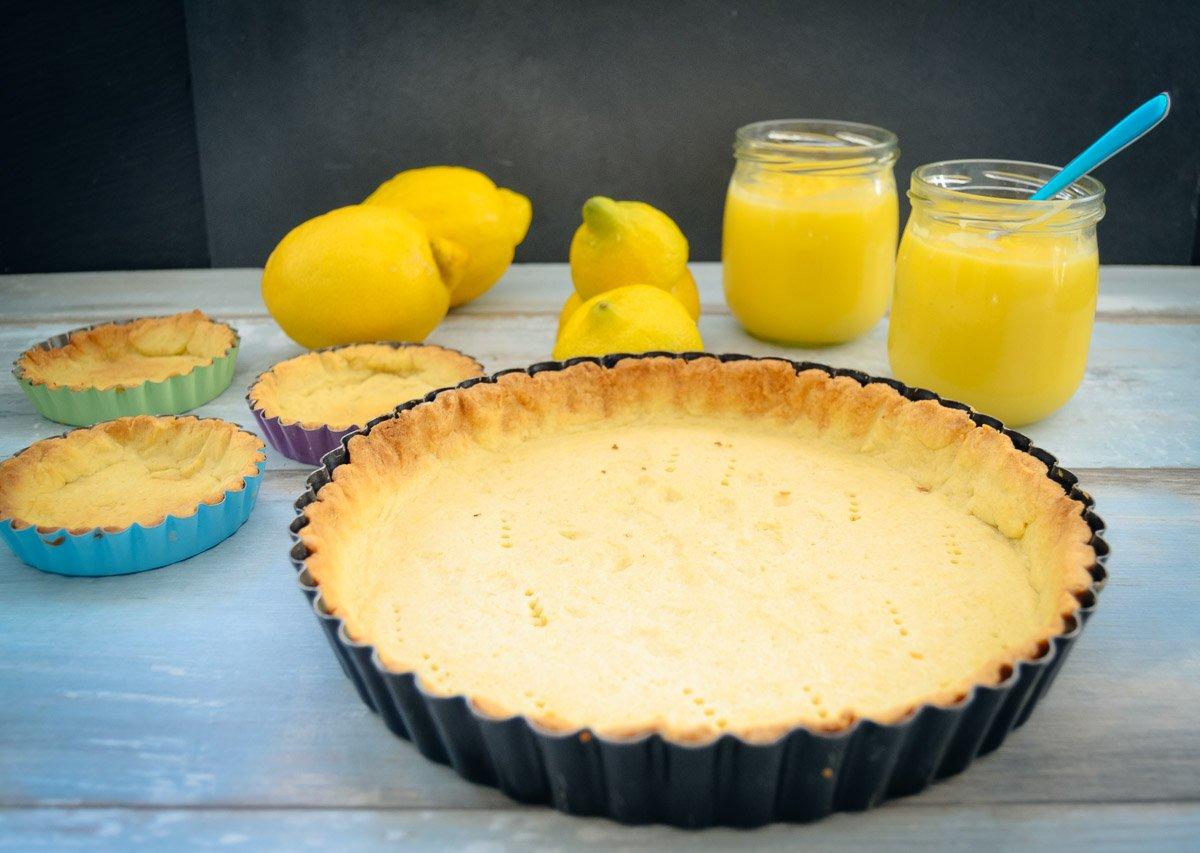 Lemon Curd und Tarte Boden