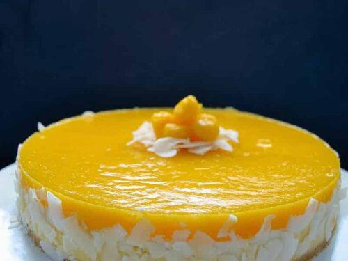 Mango Torte Mit Kokos Und Fruchtspiegel Kochen Aus Liebe