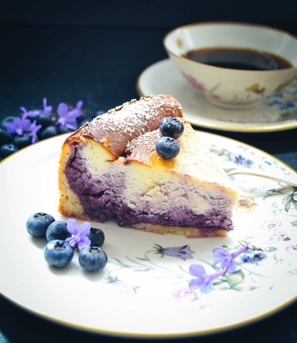 Blaubeer Käsekuchen Quarkkuchen Rezept