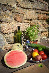 Melone, Gurke , Avocado und Feta Melone, Gurke , Avocado und Feta f?r Melonensalat