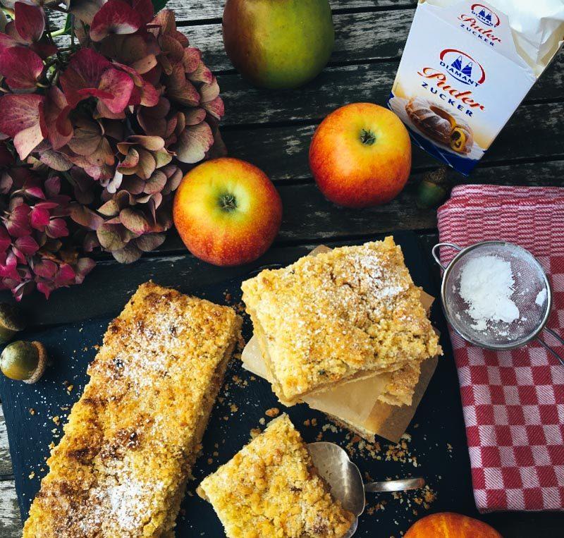 Omas Apfel-Streuselkuchen vom Blech