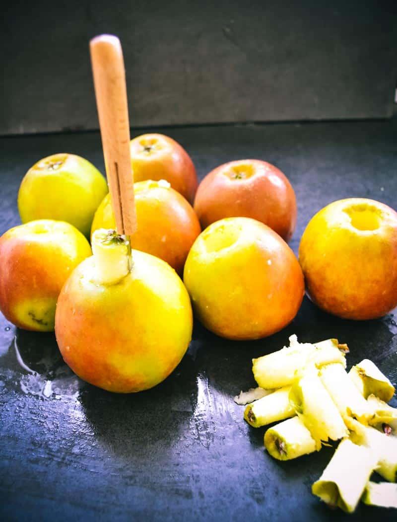 Äpfel entkernen