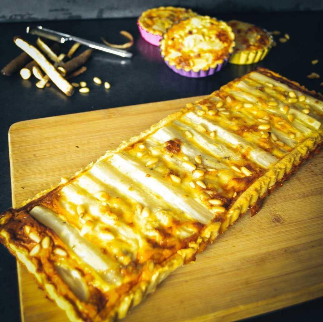 Schwarzwurzel-Tarte mit Roquefort