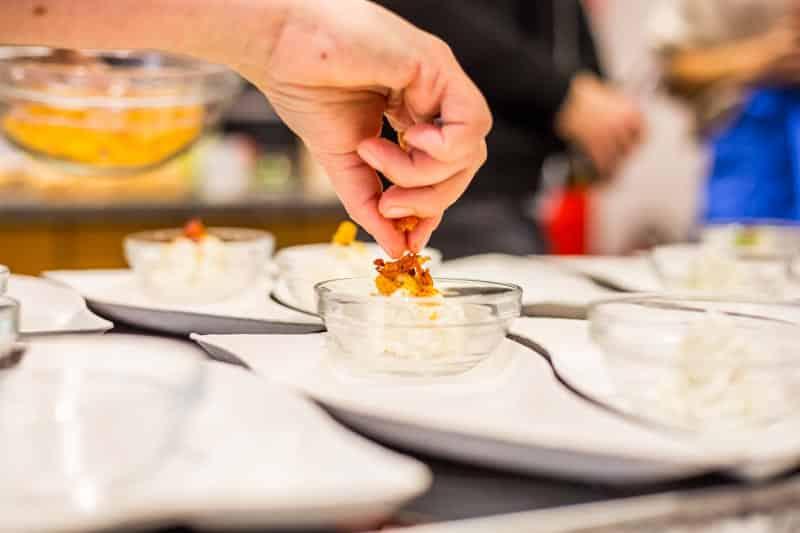 Gorgonzola-Espuma gekocht auf dem Bloggerday Food professionals