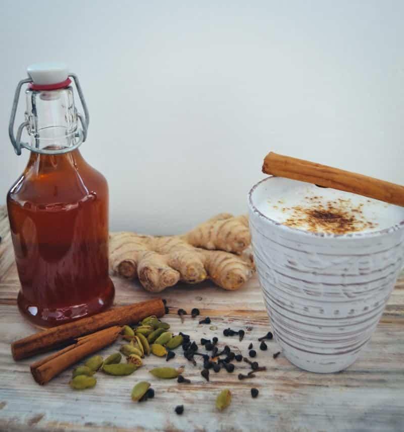 Chai Latte Sirup Masala Chai Tee mit Milch