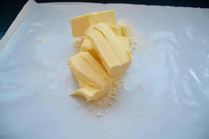 Butter und Mehl