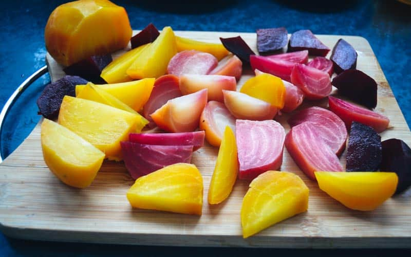 Bunte Bete für rote Bete Salat