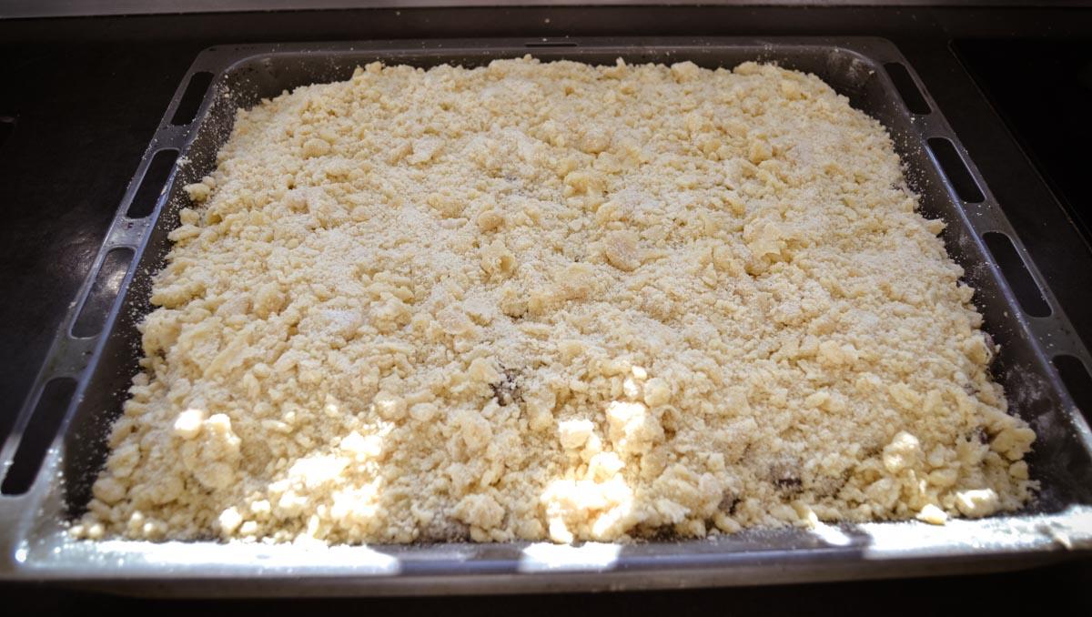 Kirsch Streuselkuchen mit vom Blech mit Mohn