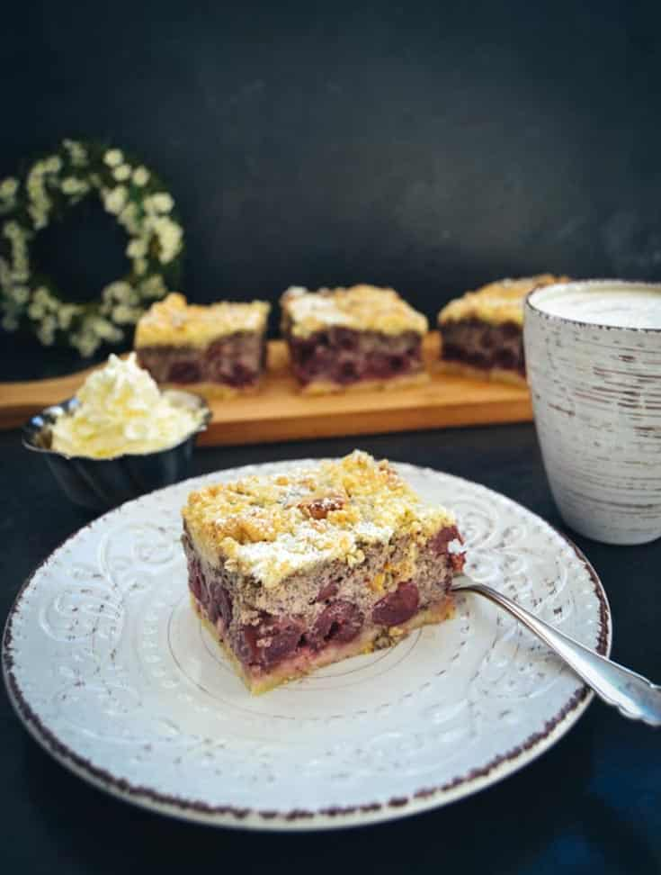 Kirsch Streuselkuchen Vom Blech Mit Mohn Kochen Aus Liebe