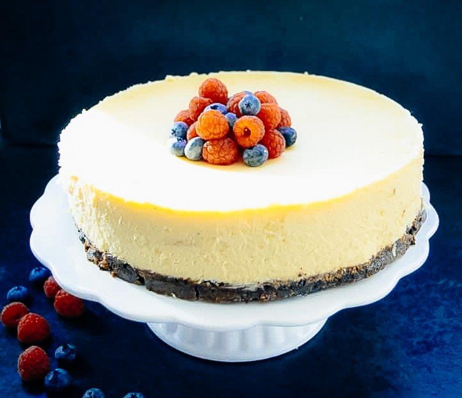 New York Cheesecake cremiger amerikanischer Käsekuchen