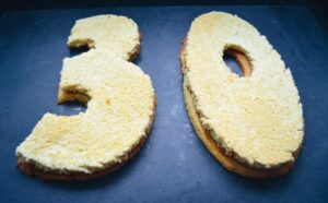 Biskuitzahl für Number Cake