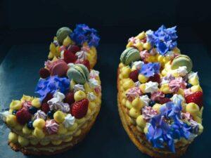Geburtstagskuchen - Numbercake mit selbstgebackenen Baisers